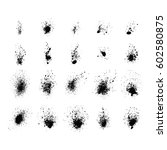 vector set of ink splashes... | Shutterstock .eps vector #602580875
