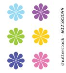 retro flower graphic | Shutterstock .eps vector #602582099