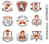 set of gentlemen's private club ...   Shutterstock .eps vector #602584871