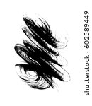 hand drawn messy brush stroke.... | Shutterstock . vector #602589449