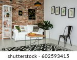 living room with couch  table ... | Shutterstock . vector #602593415