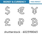 Stock vector money currency icons professional pixel perfect icons optimized for both large and small 602598065