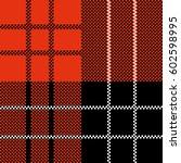vector seamless tiling pattern... | Shutterstock .eps vector #602598995