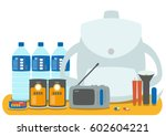 the emergency goods | Shutterstock .eps vector #602604221