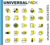 set of 25 universal editable... | Shutterstock .eps vector #602614001
