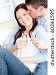 attractive couple lying on the... | Shutterstock . vector #60261595