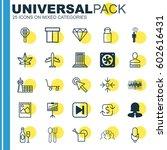 set of 25 universal editable... | Shutterstock .eps vector #602616431