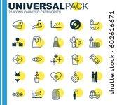 set of 25 universal editable...