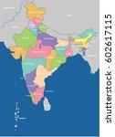 india map | Shutterstock .eps vector #602617115