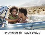 a young couple  man and woman... | Shutterstock . vector #602619029