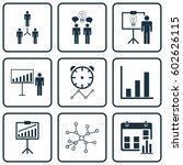set of 9 administration icons.... | Shutterstock .eps vector #602626115