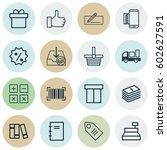 set of 16 commerce icons.... | Shutterstock .eps vector #602627591