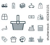 set of 16 commerce icons.... | Shutterstock .eps vector #602631131