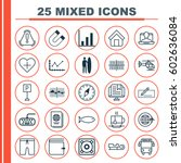 set of 25 universal editable... | Shutterstock .eps vector #602636084