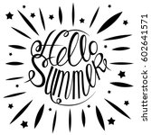 hello summer colorful card... | Shutterstock .eps vector #602641571