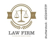 law firm  attorney  lawyer... | Shutterstock .eps vector #602644559
