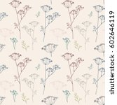 vector floral seamless pattern... | Shutterstock .eps vector #602646119
