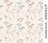 vector floral seamless pattern... | Shutterstock .eps vector #602646119