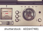 bobbin tape recorder retro... | Shutterstock . vector #602647481