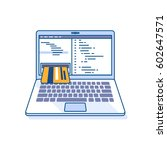 flat line illustration of... | Shutterstock . vector #602647571