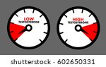 vector of dial showing low  ... | Shutterstock .eps vector #602650331