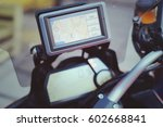 motorcycle travel gps... | Shutterstock . vector #602668841