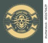 bikers event or festival emblem ...   Shutterstock .eps vector #602670629