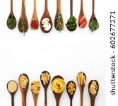 various of pasta and... | Shutterstock . vector #602677271