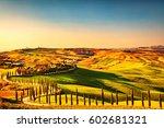 tuscany countryside panorama ... | Shutterstock . vector #602681321