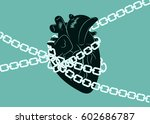 anatomical human heart wrapped...   Shutterstock .eps vector #602686787