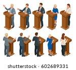 isometric public orator... | Shutterstock .eps vector #602689331