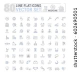 vector graphic set. icons in... | Shutterstock .eps vector #602690501