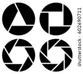 aperture  camera lens symbol ... | Shutterstock .eps vector #602690711