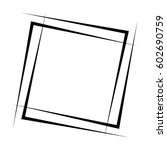 geometric abstract square... | Shutterstock .eps vector #602690759