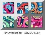 artistic funky design for print ... | Shutterstock .eps vector #602704184