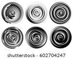 concentric circles  rings... | Shutterstock .eps vector #602704247