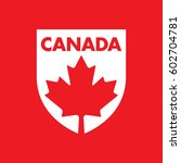 a canadian patch featuring a... | Shutterstock .eps vector #602704781