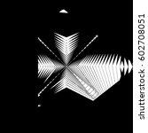 random monochrome glitchy ... | Shutterstock .eps vector #602708051