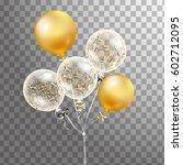 3d vector holiday illustration... | Shutterstock .eps vector #602712095
