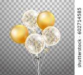 3d  holiday illustration bunch... | Shutterstock . vector #602714585