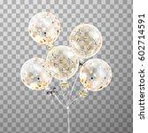 3d holiday bunch of birthday... | Shutterstock . vector #602714591