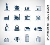building icons set. vector... | Shutterstock .eps vector #602716205