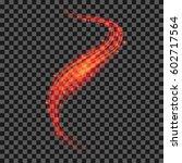 vector starry red light... | Shutterstock .eps vector #602717564