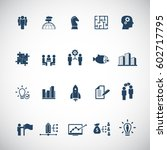 business training icon set | Shutterstock .eps vector #602717795