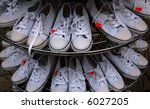 jogging shoes displayed in the... | Shutterstock . vector #6027205