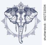 Decorative Vector Elephant Wit...