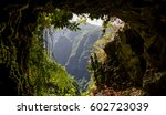 one of caves on madeira's... | Shutterstock . vector #602723039
