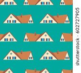 roof. pattern. colored texture... | Shutterstock .eps vector #602727905