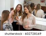 a professional make up artist... | Shutterstock . vector #602728169