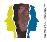 schizophrenia depression male... | Shutterstock .eps vector #602730779